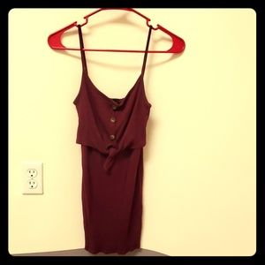 Dresses & Skirts - Burgandy tube dress